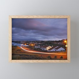 Village in twilight Framed Mini Art Print