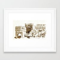 sketch Framed Art Prints featuring sketch by Shelby Claire