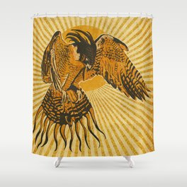 Bright colored Phoenix Bird Mythology Shower Curtain