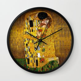 The Kiss by Gustav Klimt Wall Clock
