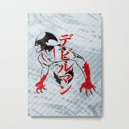 070 Devilman Stencil Metal Print