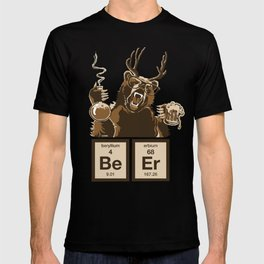 Funny chemistry bear discovered beer T-shirt