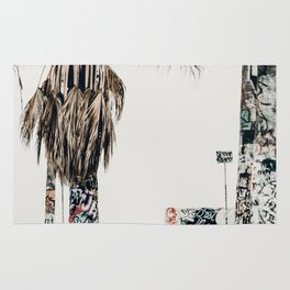graffiti palms Rug