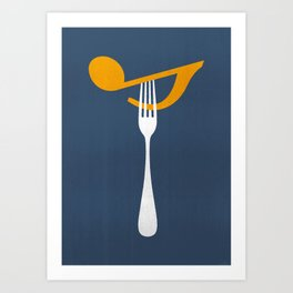 Hungry For Music Art Print