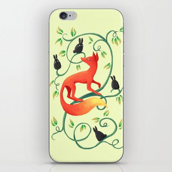 Bunnies and a Fox iPhone & iPod Skin