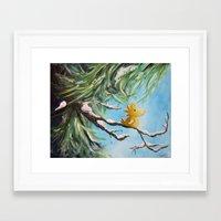 woodstock Framed Art Prints featuring Winter Woodstock by artmonkeyworld