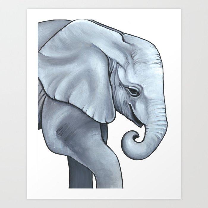 Baby Animal Nursery Art - Gender Neutral - Elephant Calf Kunstdrucke
