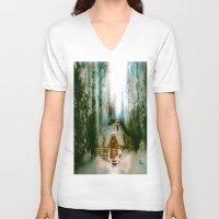 the hobbit V-neck T-shirts featuring HOBBIT HOUSE by FOXART  - JAY PATRICK FOX