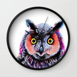 Long eared owl Wall Clock