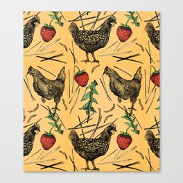 Charming Chickens Canvas Print