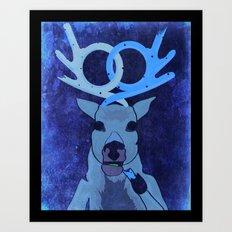 pretzel deer Art Print