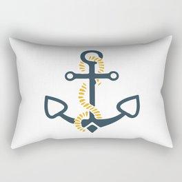 Anchor Ahoi Sailorboat marina Rectangular Pillow