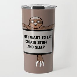 Eat, Create and Sleep Travel Mug
