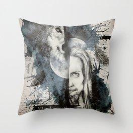 Florent & the wolf Throw Pillow