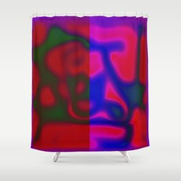 Red Color Leak Shower Curtain