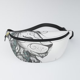 Poetic Lion Turquoise Fanny Pack