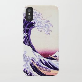 The Great wave purple fuchsia iPhone Case