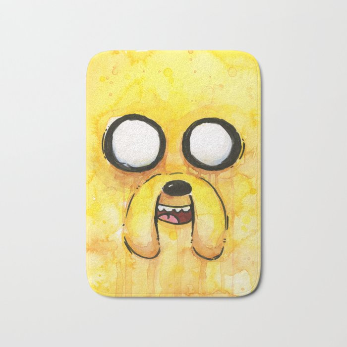 Jake Face Yellow Dog Cartoon Character Bath Mat