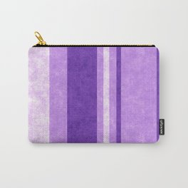 Retro Vintage Lilac Grunge Stripes Carry-All Pouch