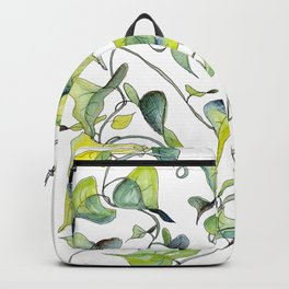 Blue and Green Vines, Pattern Backpack