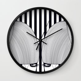 Gêmeas Close Wall Clock