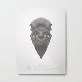California Condor Skull Metal Print