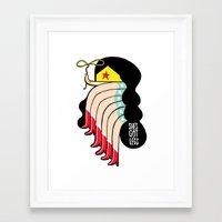 superheros Framed Art Prints featuring She's Got Legs by Philip Morgan