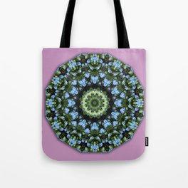 Forget-me-nots, Nature Flower Mandala, Floral mandala-style Tote Bag