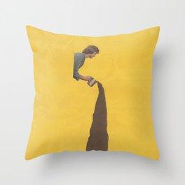 Torn Apart — Coffee Throw Pillow