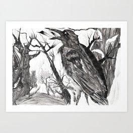 """Crow""  Art Print"