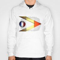 france Hoodies featuring France by ilustrarte
