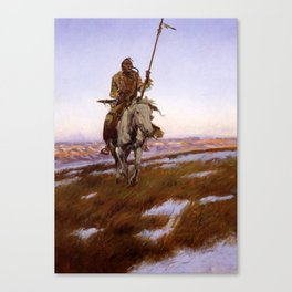 """A Cree Indian"" by Charles Russell Canvas Print"