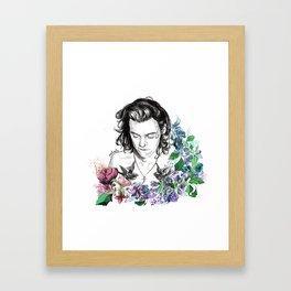 Flower Jesus Framed Art Print