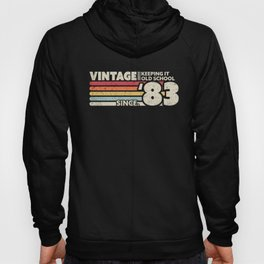 1983 Vintage, Keeping It Old School Since '83 Retro Birthday Graphic Hoody