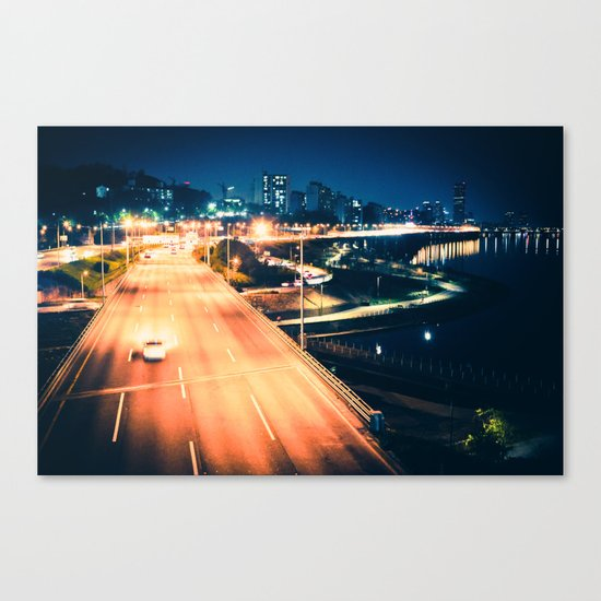Han River Skyline Canvas Print
