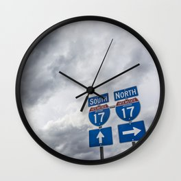 Driving Directions in Arizona Wall Clock