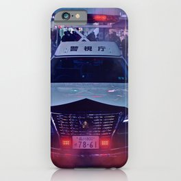 Tokyo Police Car in the fog iPhone Case