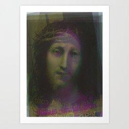 Jesus Christ.com Colour Art Print