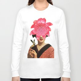 Floral Bunny Long Sleeve T-shirt