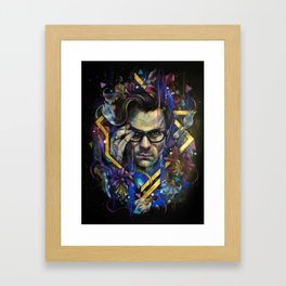 Dahlia Shadows Framed Art Print