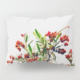 Minimal Red & Green Floral (Color) Pillow Sham
