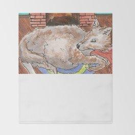 Big Fat Wolf Throw Blanket