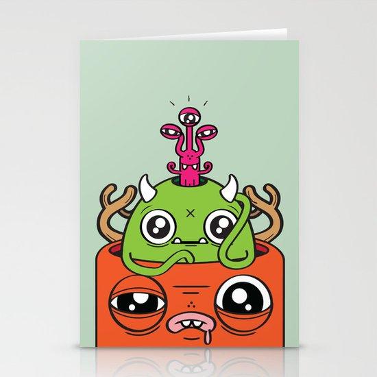 Monster Mind Stationery Cards