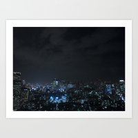 tokyo Art Prints featuring TOKYO by Olle Goto