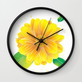Helianthus - The Color of Vitality, Intelligence and Happiness Wall Clock