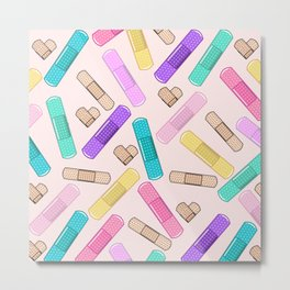 Retro Bandages Metal Print