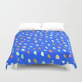 Blue Party Paint Dots Duvet Cover