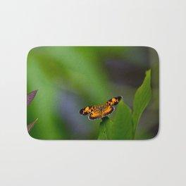 Pearl Crescent Butterfly Bath Mat