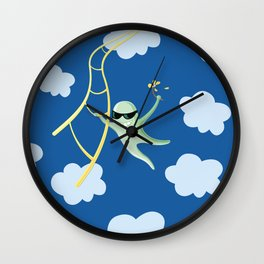 Always Cool Fly With The Wind Wall Clock