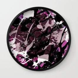 Celtic Rose Pink Wall Clock